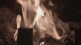 Εγκαύματα πυρκαγιάς στην εστία απόθεμα βίντεο