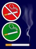 Εγκαύματα τσιγάρων και καπνίζοντας απεικόνιση σημαδιών περιοχής Στοκ Εικόνα