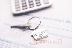 Εγκεκριμένη εφαρμογή συμφωνίας ενυπόθηκου δανείου Στοκ Εικόνα