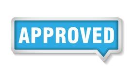 Εγκεκριμένο διανυσματικό σχέδιο δεικτών ετικετών σημαδιών ελεύθερη απεικόνιση δικαιώματος