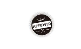 Εγκεκριμένο λογότυπο εικονιδίων Ελεύθερη απεικόνιση δικαιώματος