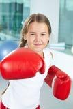 εγκιβωτίζοντας γάντια κοριτσιών Στοκ φωτογραφίες με δικαίωμα ελεύθερης χρήσης