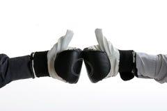 εγκιβωτίζοντας γάντια στοκ φωτογραφία