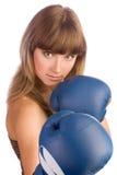 Εγκιβωτίζοντας θηλυκό punching Στοκ Εικόνες