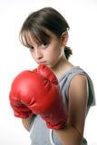 εγκιβωτίζοντας κορίτσι Στοκ εικόνα με δικαίωμα ελεύθερης χρήσης