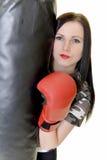 Εγκιβωτίζοντας κορίτσι Brunette Στοκ φωτογραφίες με δικαίωμα ελεύθερης χρήσης