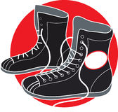 εγκιβωτίζοντας παπούτσι ελεύθερη απεικόνιση δικαιώματος