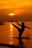 εγκιβωτίζοντας Ταϊλανδό&s Στοκ Εικόνα