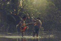 εγκιβωτίζοντας Ταϊλανδός Στοκ φωτογραφίες με δικαίωμα ελεύθερης χρήσης