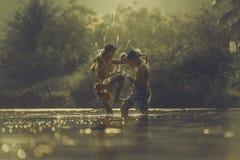 εγκιβωτίζοντας Ταϊλανδός Στοκ φωτογραφία με δικαίωμα ελεύθερης χρήσης