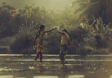 εγκιβωτίζοντας Ταϊλανδός Στοκ εικόνα με δικαίωμα ελεύθερης χρήσης