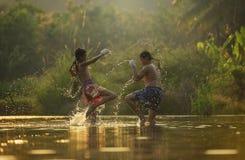εγκιβωτίζοντας Ταϊλανδός Στοκ Φωτογραφία
