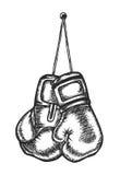 Εγκιβωτισμός, αθλητισμός, εγκιβωτίζοντας γάντια, πολεμικές τέχνες απεικόνιση αποθεμάτων