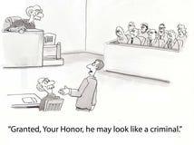 εγκληματικός δικαστής όπως τα βλέμματα Στοκ φωτογραφία με δικαίωμα ελεύθερης χρήσης