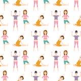 Εγκυμοσύνης αθλητικής ικανότητας ανθρώπων υγιής χαρακτήρα διανυσματική απεικόνιση γιόγκας γυναικών υποβάθρου σχεδίων τρόπου ζωής  Στοκ φωτογραφίες με δικαίωμα ελεύθερης χρήσης