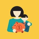 Εγκυμοσύνη και μητέρα για να είναι διατροφή infographic Στοκ Εικόνα