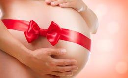 εγκυμοσύνη κοιλιών έγκυος Στοκ Εικόνες