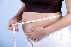εγκυμοσύνη μέτρησης στοκ φωτογραφία με δικαίωμα ελεύθερης χρήσης
