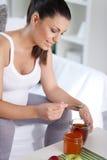 Εγκυμοσύνη με το τσάι Στοκ Φωτογραφία
