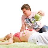 εγκυμοσύνη προσοχής στοκ εικόνες