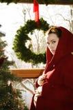 εγκυμοσύνη Χριστουγένν&omeg Στοκ Εικόνες