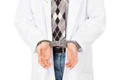Εγκληματικός χειρούργος - έννοια της αποτυχίας στην υγειονομική περίθαλψη στοκ εικόνα με δικαίωμα ελεύθερης χρήσης