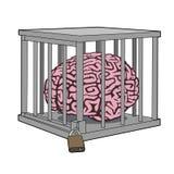 Εγκλωβισμένο μυαλό Στοκ φωτογραφία με δικαίωμα ελεύθερης χρήσης