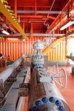 Εγχειρίδιο βαλβίδων στη διαδικασία παραγωγής Στοκ φωτογραφίες με δικαίωμα ελεύθερης χρήσης