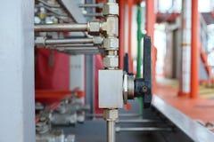 Εγχειρίδιο βαλβίδων στη διαδικασία παραγωγής Στοκ εικόνα με δικαίωμα ελεύθερης χρήσης