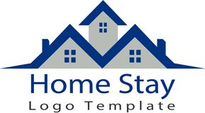 Εγχώρια ακίνητη περιουσία και πρότυπο λογότυπων στοκ φωτογραφίες με δικαίωμα ελεύθερης χρήσης