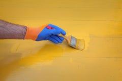 Εγχώρια ανακαίνιση, ζωγραφική πατωμάτων Στοκ Φωτογραφία