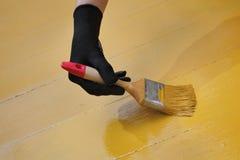 Εγχώρια ανακαίνιση, ζωγραφική πατωμάτων Στοκ Εικόνα