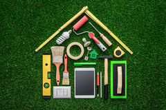 Εγχώρια ανακαίνιση και DIY στοκ εικόνα με δικαίωμα ελεύθερης χρήσης