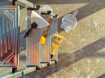 Εγχώρια επισκευή Διαφορετικά εργαλεία για τις εργασίες Στοκ Εικόνα
