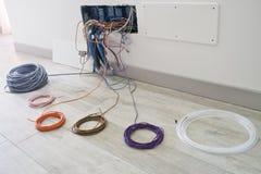 Εγχώρια ηλεκτρική καλωδίωση Στοκ εικόνες με δικαίωμα ελεύθερης χρήσης