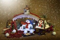 Εγχώριες διακοσμήσεις Χριστουγέννων στοκ εικόνα με δικαίωμα ελεύθερης χρήσης