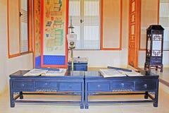 Εγχώριες επιπλώσεις ζωής της Κορέας αρχαίες στοκ εικόνες