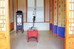 Εγχώριες επιπλώσεις ζωής της Κορέας αρχαίες στοκ φωτογραφία
