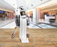 Εγχώριες συσκευές στο ηλεκτρονικό εμπόριο κάρρων αγορών ή το σε απευθείας σύνδεση shoppi Στοκ εικόνα με δικαίωμα ελεύθερης χρήσης