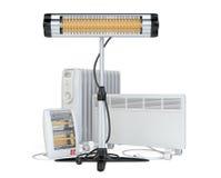 Εγχώριος εξοπλισμός για τη θέρμανση, το αλόγονο ή τις υπέρυθρες ακτίνες, con, quar Στοκ Εικόνες