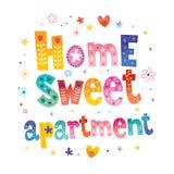 Εγχώριο γλυκό διαμέρισμα απεικόνιση αποθεμάτων
