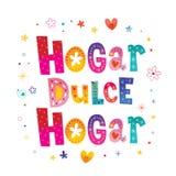 Εγχώριο γλυκό σπίτι Hogar Hogar dulce στα ισπανικά διανυσματική απεικόνιση