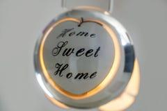 Εγχώριο γλυκό σπίτι σφαιρών κρυστάλλου Στοκ Εικόνες
