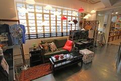 Εγχώριο εσωτερικό κατάστημα στην περιοχή Soho στο Χονγκ Κονγκ Στοκ Φωτογραφία