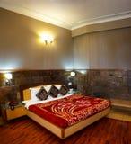 Εγχώριο εσωτερικό σχέδιο δωματίων κρεβατιών Στοκ φωτογραφία με δικαίωμα ελεύθερης χρήσης