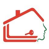 Εγχώριο λογότυπο σπιτιών, Στοκ Εικόνες