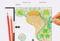Εγχώριο σχέδιο κήπων μπαλκονιών Στοκ Εικόνες