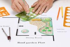 Εγχώριο σχέδιο κήπων μπαλκονιών Στοκ Εικόνα