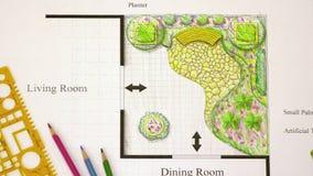 Εγχώριο σχέδιο κήπων μπαλκονιών απόθεμα βίντεο