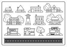 Εγχώριο χωριό εικονιδίων Στοκ εικόνα με δικαίωμα ελεύθερης χρήσης
